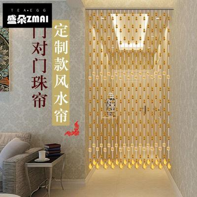 珠簾簾水晶隔斷簾對風水臥室衛生間廁所客廳風水葫蘆屏風鏈YB-mg04 25條1.8米(迎福)
