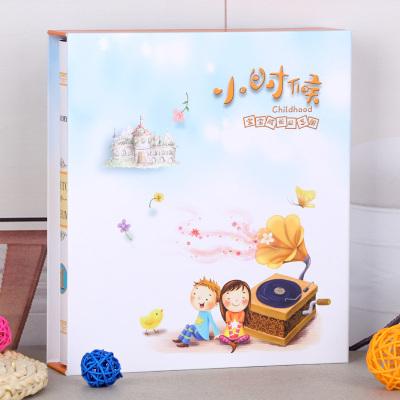 【精品好貨】相冊本5寸過塑6寸7寸插頁式兒童寶寶成長家庭影集紀念冊大容量 小時候 5寸6寸7寸混裝400張【過塑可放】