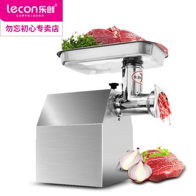 乐创(lecon)LC-JR12 330斤/h 商用绞肉机灌肠机不锈钢电动台式多功能全自动切片切丝切丁切肉机切片机12型