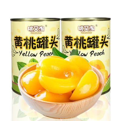 【中華特色】豐縣館 桃又淘黃桃罐頭425g*2罐 新鮮水果罐頭 精選黃桃 Q感十足華東