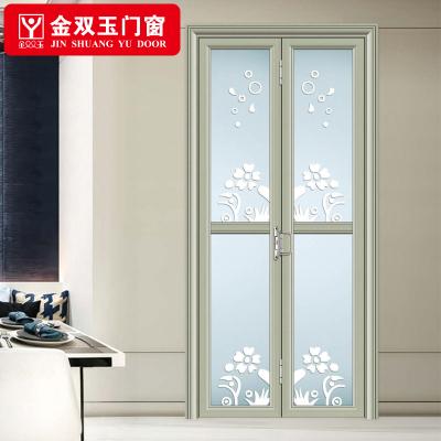 金双玉 钛镁合金折叠门 无轨道厨房小折叠 卫生间小折叠 钢化玻璃折叠门按一平米算