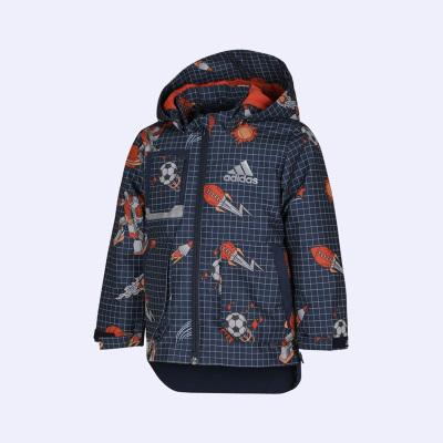 阿迪達斯2020新品童裝男童夾克二合一兒童運動外套GC7242