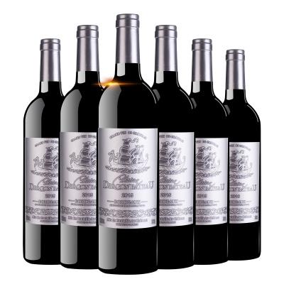 龍船御道銀標法國原瓶進口酒水波爾多產區AOC級別14度750ml*6瓶干紅葡萄酒整箱裝紅酒