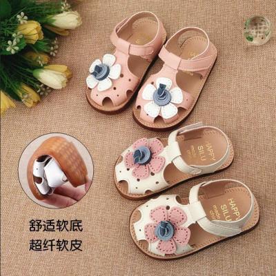 HKCP2020新款包頭女童涼鞋1-3-6歲韓版夏季公主鞋防滑軟底寶寶學步鞋