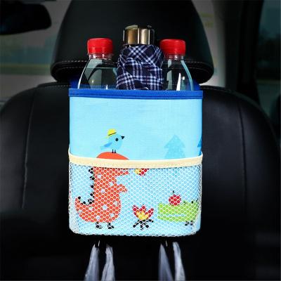 華飾 汽車車載垃圾桶迷你懸掛式牛津布椅背收納袋垃圾袋置物盒汽車用品