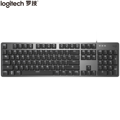 【旗艦店】羅技K845 機械鍵盤 有線鍵盤 辦公鍵盤 全尺寸 單光 黑色 茶軸