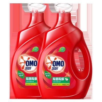 【12斤組合裝】奧妙(OMO) 除菌除螨洗衣液 3kg+3kg(新老包裝隨機發貨)【聯合利華】