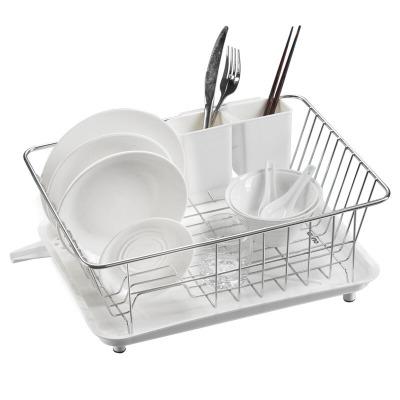 欧琳(OULIN) 厨房沥水篮186 碗筷沥水架 不锈钢水槽架晾碗架 白色