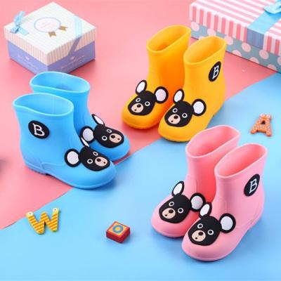 搭啵兔兒童雨鞋水鞋男童女童寶寶卡通雨靴防滑加絨雨鞋套小孩幼兒膠鞋【3月28日發完】