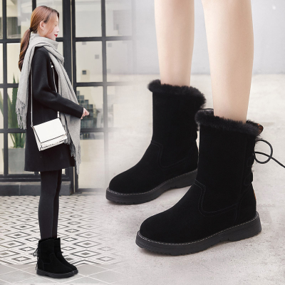 ORCCISEM奥驰森 雪地靴女2019冬季新款加绒保暖女士雪地靴短筒防滑内增高雪地棉女款棉鞋保暖鞋女