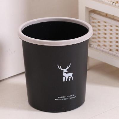 垃圾桶家用無蓋壓圈分類大號厚塑料客廳廚房衛生間辦公小廁所紙簍弧威(HUIWEI)