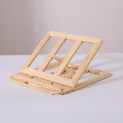 筆記本電腦實木折疊支架便攜托架桌面升降增高散熱器蘋果MacBook 便攜可折疊松木款