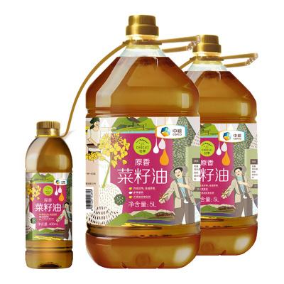 中粮 初萃 原香菜籽油5L(捆绑装)*2 食用油组合装