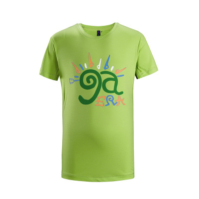 KAILAS凱樂石新款速干戶外跑步運動童裝短袖功能印花T恤