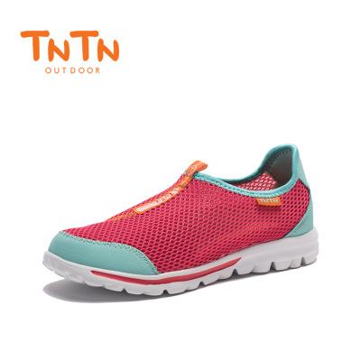 速干透气 中性款西瓜红青色跑鞋 轻盈舒适