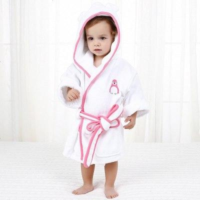 1-10岁儿童浴袍毛巾料加厚浴衣男女宝宝婴幼儿斗篷浴巾