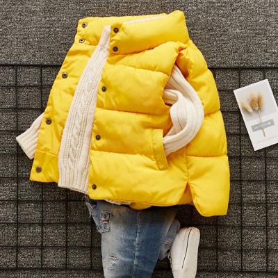 晶飒反季儿童羽绒棉马甲外穿秋冬季宝宝加厚女男童立领韩版婴幼儿保暖
