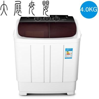 迷你雙桶雙缸半自動寶寶洗衣機家用波輪小型帶甩干脫水宿舍 奧天普黑金剛普通
