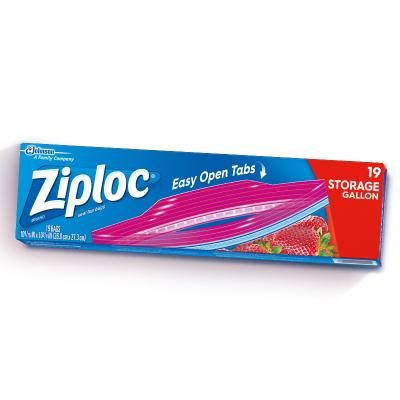密保诺 Ziploc 美国进口 密实袋 食品密封袋 零食果蔬保鲜袋 非保鲜膜 大号19个 全美热卖品牌