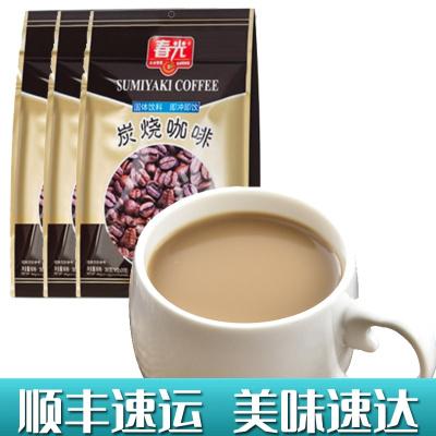 炭烧咖啡360gX3袋 春光 冲调速溶咖啡粉三合一食品特浓传统经典香浓正宗海南特产