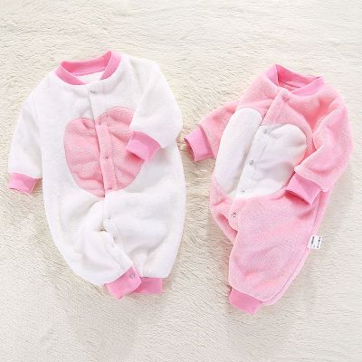 婴儿宝宝冬季连体衣睡衣男女0-1岁婴儿冬季衣服儿罩衣家居服威珺