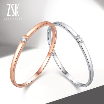 ZSK珠寶 鉆石戒指女 愛的印記 紅/白18K金鉆石戒指彩金女戒鉆戒 送女友(定價)