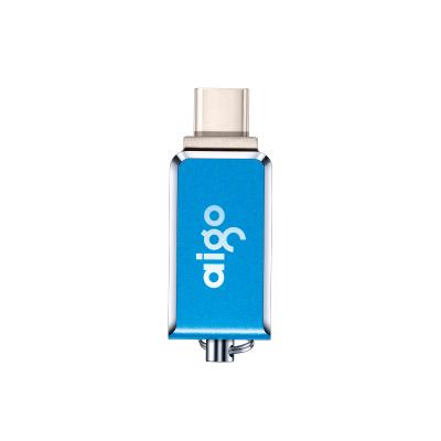 爱国者(aigo)64GB Type-C USB3.1双接口 U355 手机U盘 车载便携 蓝色