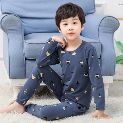 口袋虎春季時中大童時尚純棉內衣套裝睡衣家居服套裝