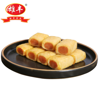 雄豐油炸包心魚豆腐 500g夾心肉餡火鍋麻辣燙關東煮煎炸食材