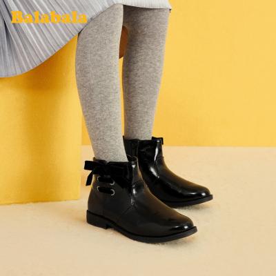 巴拉巴拉女童短靴儿童马丁靴中大童2019冬季新款靴子韩版时尚靴女