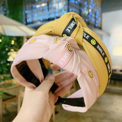 韓版新款燙金細邊打結頭箍蝴蝶結發卡帶齒防滑兔耳朵發箍鑲鉆壓發 鑲鉆蝴蝶結黃色