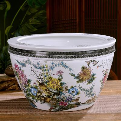古笙記 景德鎮陶瓷器大號養金魚缸烏龜睡蓮盆碗蓮盆荷花缸大水缸客廳擺件