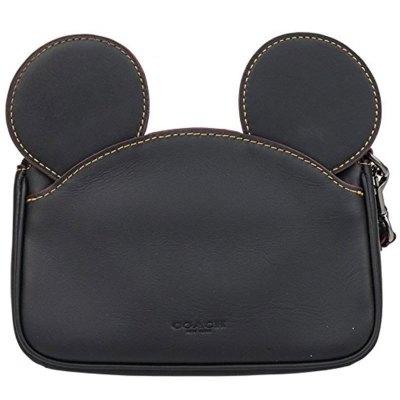 【鼠年特輯】蔻馳(COACH)迪士尼聯名限量版 牛皮 拉鏈卡通可愛米奇耳朵 手拿包零錢包女包手包