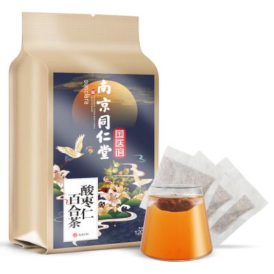 ??死?SUN CLARA)酸棗仁百合花茶120g/袋南京同仁堂茯苓茶花茶養生茶飲袋泡茶
