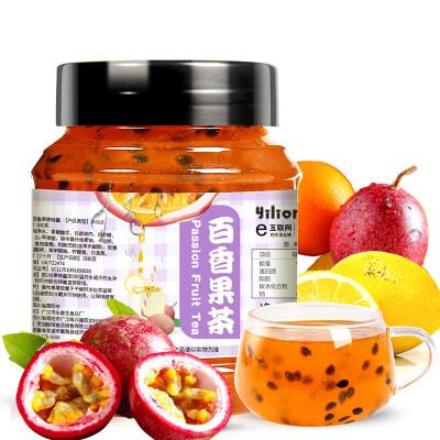 【買即送勺】蒲草茶坊 百香果茶果味沖飲水果茶果粒茶果肉500g