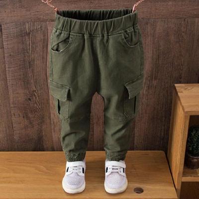 男宝宝裤子春秋外穿加绒中小童男童运动长裤儿童工装裤加厚