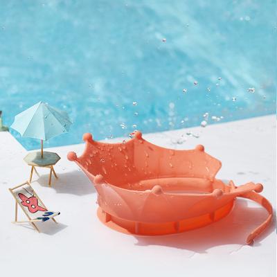 babycare寶寶洗頭帽 洗頭神器硅膠兒童護耳浴帽可調節小孩嬰兒洗澡防水帽 珊瑚粉 3803