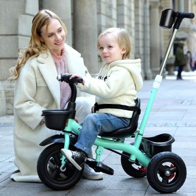 儿童三轮车脚踏车1-6岁宝宝自行车婴幼小孩手推车智扣童车