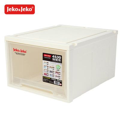 JEKO&JEKO 抽屜柜透明塑料抽屜式收納柜特大號寶寶兒童衣柜收納盒五斗柜儲物柜子整理收納箱 SWB-5413