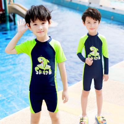 佑游 兒童泳衣男童連體中大童小童長短袖沙灘防曬男孩寶寶潛水泳衣