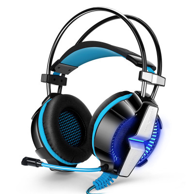 因卓GS700单插头电竞游戏耳机头戴式手机K歌耳麦单孔电脑耳机 发光带线控 软麦 大耳罩佩戴舒适 2米线 两色可选