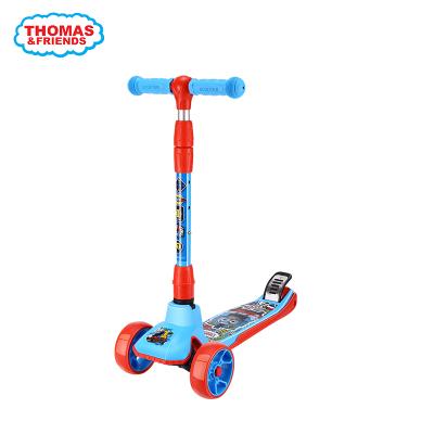 托马斯儿童滑板车 一秒折叠 三挡可调升降闪光加宽pu轮四轮踏板车摇摆车
