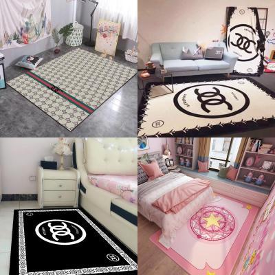 ins地毯臥室床邊地毯 少女心公主粉色地墊臥室滿鋪可愛潮牌地毯花睡神