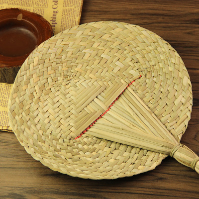 大號扇子手編蒲扇復古法耐編織香蒲草芭蕉扇夏天圓扇
