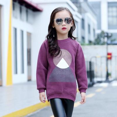 女童卫衣秋冬装2018新款韩版绒衫卫衣打底衫中大童上衣儿童洋气潮