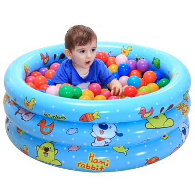 諾澳寶寶海洋球池波波池釣魚池沙池充氣兒童戲水游泳池塑料球池 130cm粉色+200個海洋球