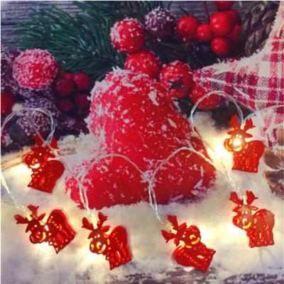 新年裝飾圣誕襪麋鹿彩燈(2米長+USB接口)