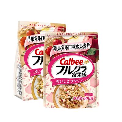 Calbee/卡樂比 進口早餐即食燕麥片水果麥片蘋果味600g*2袋