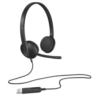 Logitech/羅技 H340電腦學習辦公耳機頭戴式有線筆記本學生老師網課USB耳麥