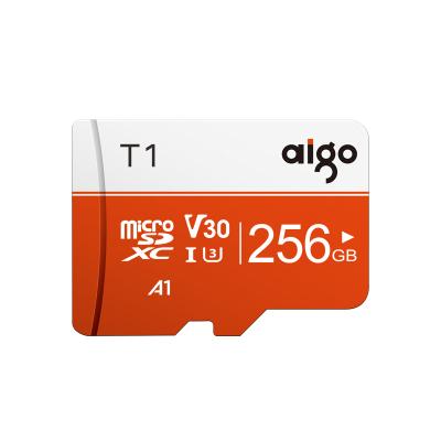 爱国者(aigo)256GB TF(MicroSD)存储卡 T1高速版 读速97MB/s